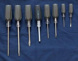 NEW CRAFTSMAN 8 PIECE SCREWDRIVER SET PHILLIPS, SLOTTED, CUS