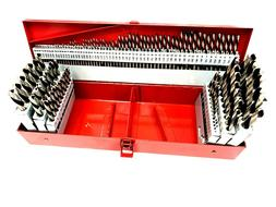 NEW! DRILL BIT SET 115PC HIGH SPEED STEEL WITH INDEX FRACTIO