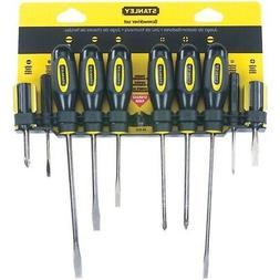 New STANLEY 60-100 10-Piece Standard Fluted Screwdriver Set