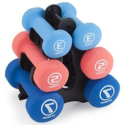 Set of 3 Pairs of Neoprene Body Sculpting Hand Weights with
