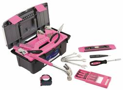 Pink Tool Set For Women With Wrenches Precision Screwdriver
