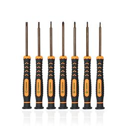 Precision Screwdriver Set of 7, TECKMAN Phillips and Flathea