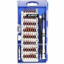 Oria Precision Screwdriver Set, S2 Steel Magnetic Driver Kit