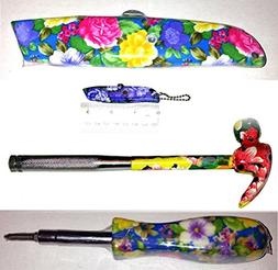 Pretty Floral Flower 4 piece Tool Set for Ladies - a 5-in-1