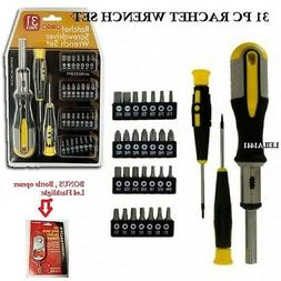 31 Pc Ratchet Screwdriver Set