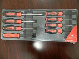 Snap-On 8 Piece Red Combination Screwdriver Set, Part # SGDX