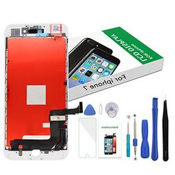 Replacement Screen for iPhone 7 White LCD Display Touch Digi