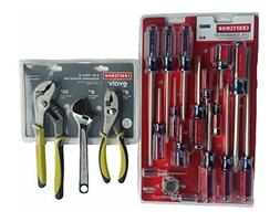 craftsman 17 piece screwdriver and 3 craftsman Evolv 3 piece