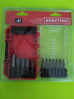 = Craftsman Screwdriver Bit Set 19 PC With Case Shock Resist