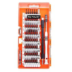 VEUSTAR Screwdriver Set, S2 Steel 60 in 1 with 56 Bits, Prec