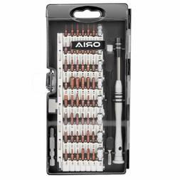 Screwdriver Set, Magnetic Driver Kit, S2 Steel 60 in 1 Preci