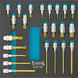 HAZET Screwdriver socket set 163-119/23 Square, hollow 12.5