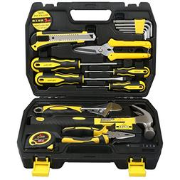 DOWELL 17 PCS Tool Set, General Portable Hand Tools Set With