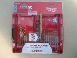 Milwaukee Shockwave Titanium Red Helix Drill Bit Set