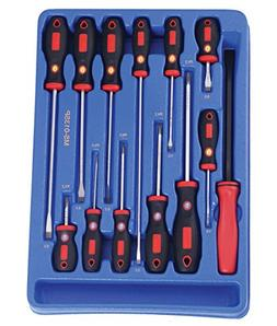 Genius Tools 13 Piece Slotted & Philips Screwdcriver Set MS-