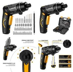 Small Cordless Screwdriver Electric Drill Rechargeable Kit S