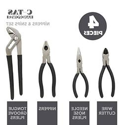 C-TAS Stainless Steel 4 Pieces of Set - NIPPERS with Plastic