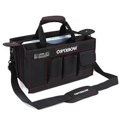 WORKPRO 15-inch Tool Storage Bag Collapsable with Center Tra