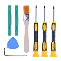 T6 T8H T9H T10H Screwdriver Tool Kit with Prying Tool and Cl