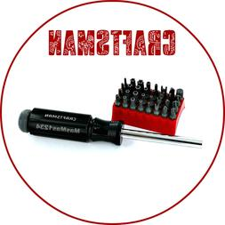 Craftsman 33 pc Tamper Proof Magnetic Screwdriver Set 947486