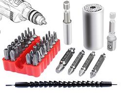 Poonning Universal Socket 7MM-19MM,Damaged Screw Remover Set