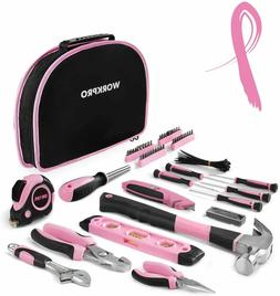 WORKPRO 103-Piece Pink Tool Kit - Ladies Hand Tool Set with