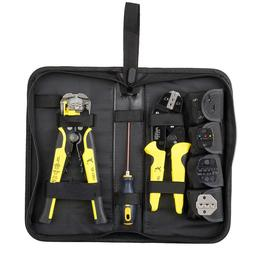 Wire Crimper Tools Kit Cable Stripper Cutter Pliers Screwdri