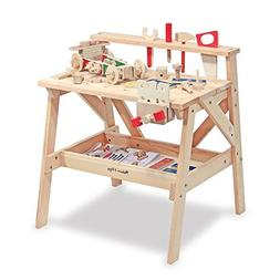 Melissa & Doug Wooden Project Workbench Plus 24 Piece Take A