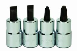 Williams WSSSP-4RC 4-Piece Screwdriver Bit Socket Set